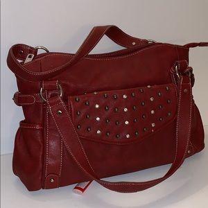Grace Adele Red Shoulder Bag/Tote